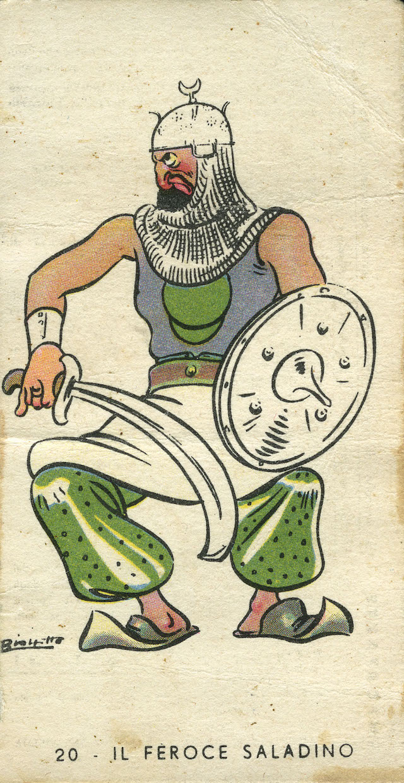 Il feroce Saladino è una figurina rara molto famosa