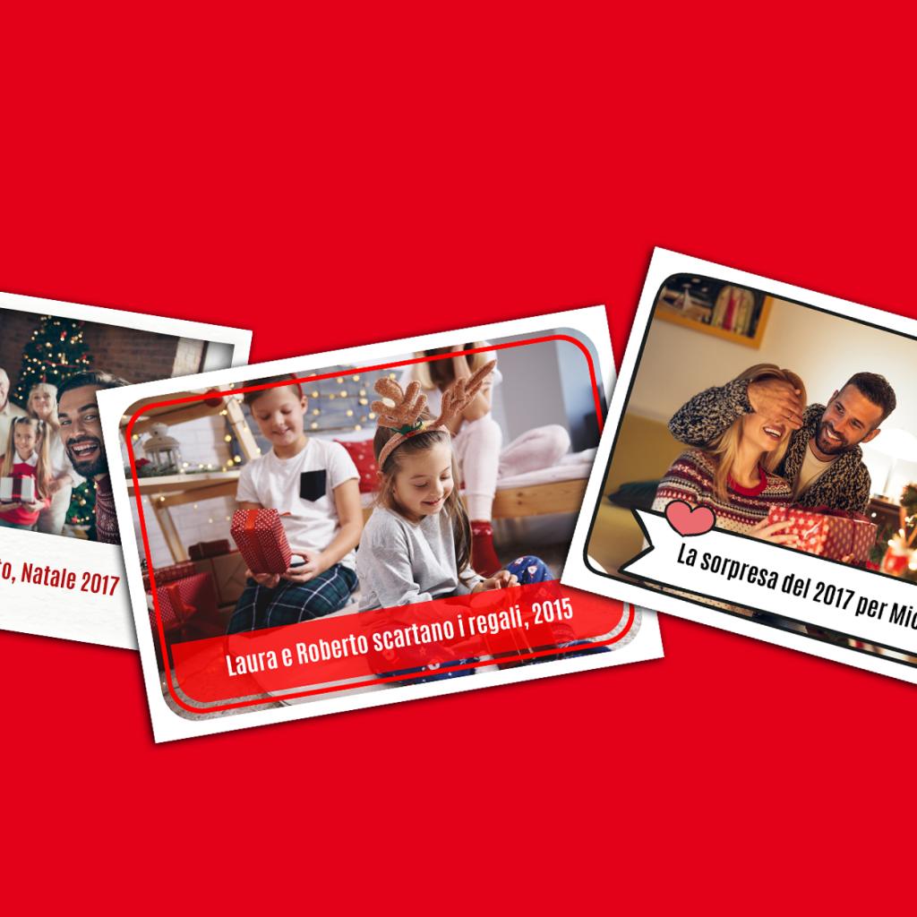 Trasforma le tue foto in bellissime figurine con cui fare gli auguri di Natale in modo creativo!