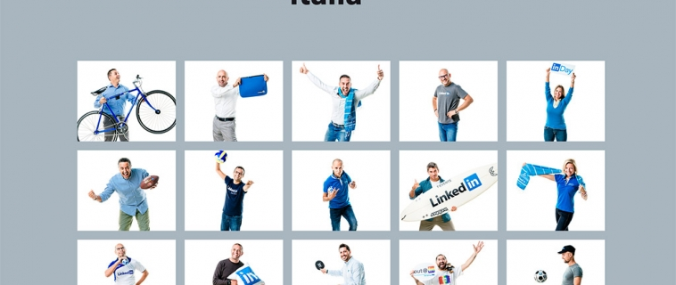 LinkedIn fa Team Building insieme alle figurine